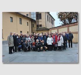 Foto di gruppo tra ex Allievi Giuseppini e Amici del Santuario piemontese