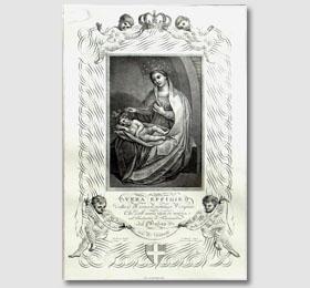 Stampa del Monticoni del 1818 con la Beata Vergine Maria nel Santuario di Sommariva del Bosco,opere del Monticoni,Monticoni stampe,le opere di Monticoni,la Madonna di Monticoni